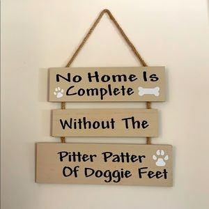 Doggie Home wood sign